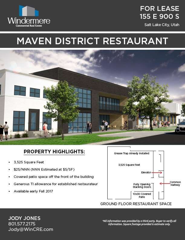 Maven District Restaurant Flyer